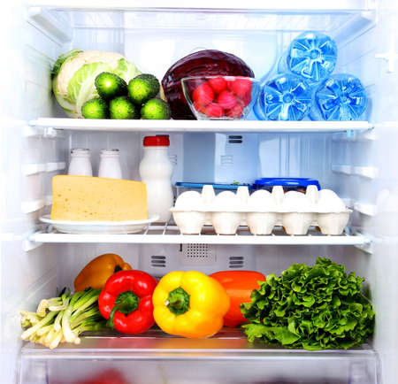 Refrigerator full of food Stock Photo - 18316788