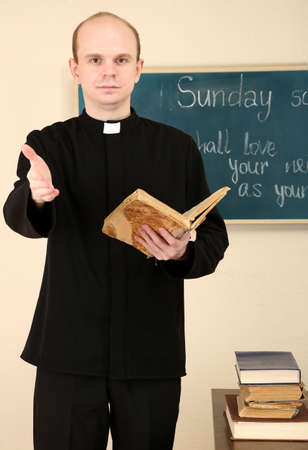 Priest in Sunday school photo