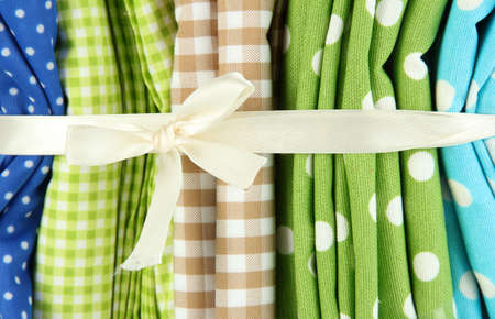 mottled: Color mottled fabrics close-up background Stock Photo
