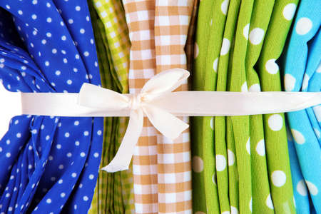 mottled: Color mottled fabrics close-up background Stock Photo