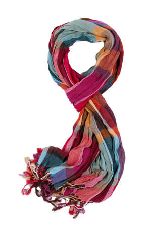 scarf: Bright female scarf isolated on white