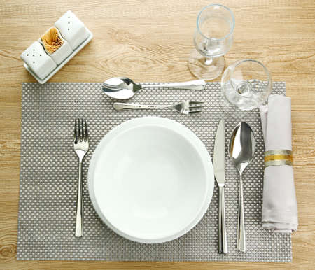 ware: Table setting, close up
