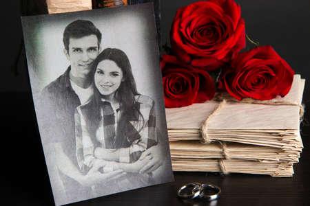 wedding photo frame: Ricordi d'epoca close up Archivio Fotografico