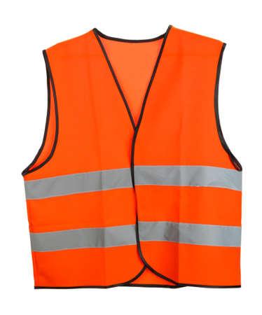 safety jacket: Orange vest, isolated on black Stock Photo