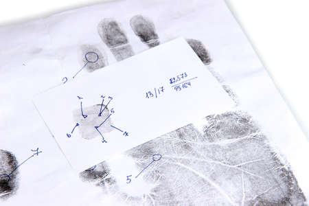 Fingerprints close-up isolated on white Stock Photo - 18605680