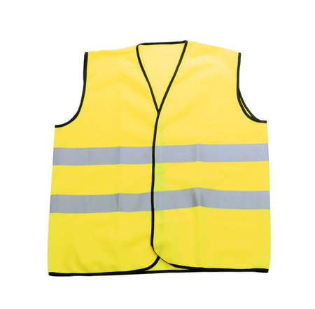 Yellow vest, isolated on black Stock Photo - 18609862