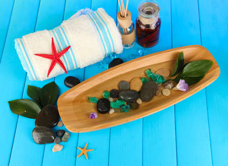 Sea spa elements close up photo