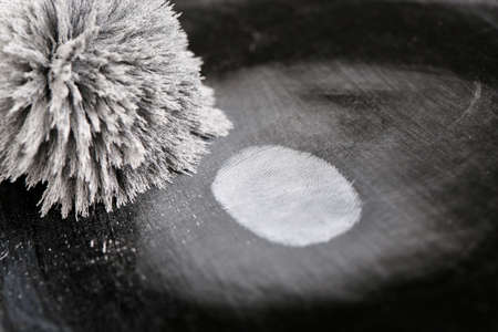 Taking fingerprints isolated on black Stock Photo - 18668640