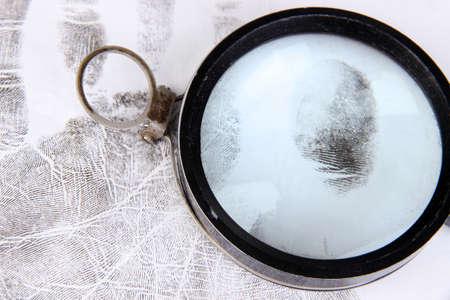 Fingerprints close-up isolated on white Stock Photo - 18695504