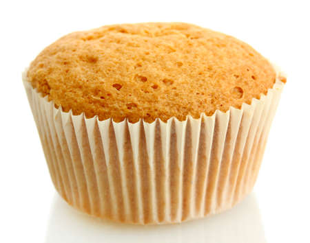 cupcakes isolated: tasty muffin cake, isolated on white Stock Photo