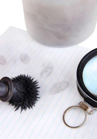 Taking of fingerprints close-up Stock Photo - 18801015