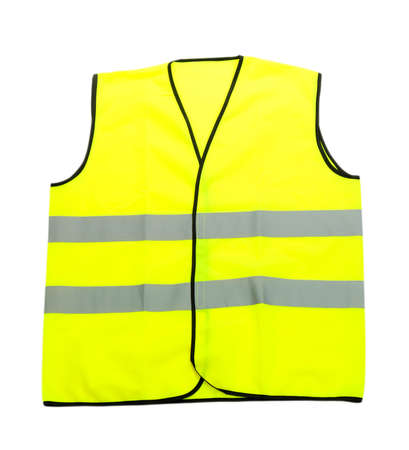 Yellow vest, isolated on black