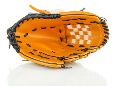 guante de beisbol: Guante de béisbol aislado en blanco