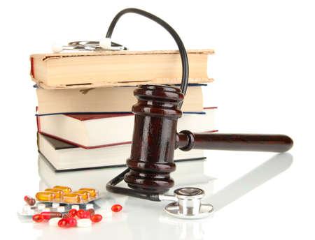 offense: Concepto de medicina forense de cerca Foto de archivo