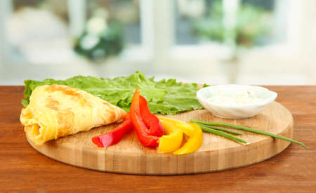 Ingredients for preparing egg rolls, on bright background Stock Photo - 19165992