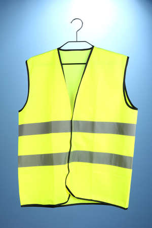 Yellow vest, on color background Stock Photo - 19127476