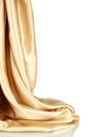 silk: beautiful silk drape, isolated on white