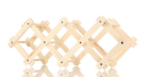 cabarnet: Wooden stand for bottles of wine isolated on white