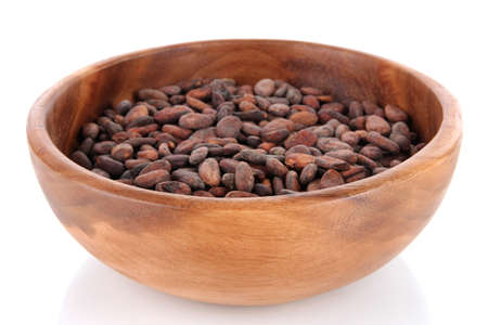 Beans in bowl isolated on white photo
