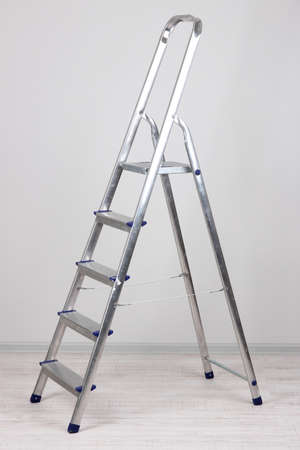 Metal stairs in room Stock Photo