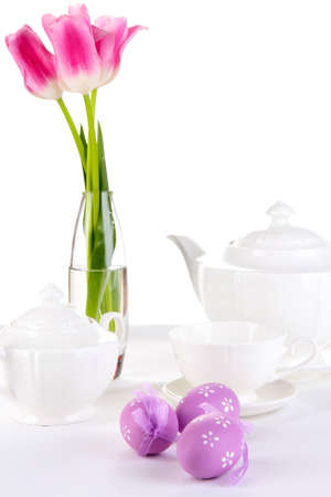 Place setting for Easter close up Stock Photo - 19338072