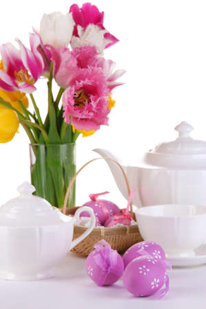 Place setting for Easter close up Stock Photo - 19338200