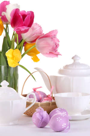 Place setting for Easter close up Stock Photo - 19338152