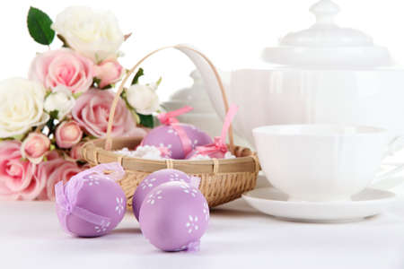 Place setting for Easter close up Stock Photo - 19338227