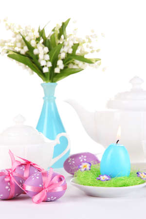 Place setting for Easter close up Stock Photo - 19338158