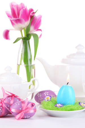 Place setting for Easter close up Stock Photo - 19338159