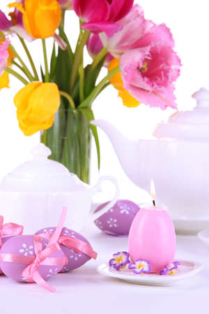 Place setting for Easter close up Stock Photo - 19390723