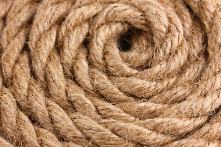 Skein of rope close up photo