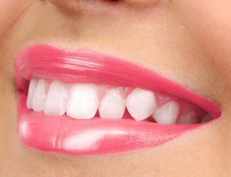 make love: Beautiful make up of glamour pink gloss lips Stock Photo