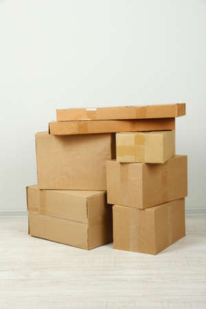 Different cardboard boxes in room Stock Photo - 19764810