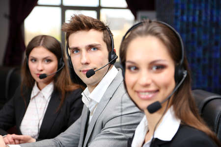 customer care: Call center operators at work