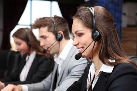 service center: Call center operators at work