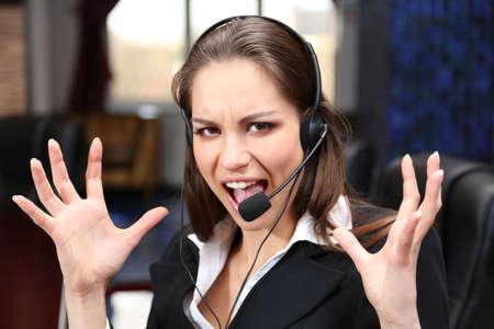 Call center operator at work  photo