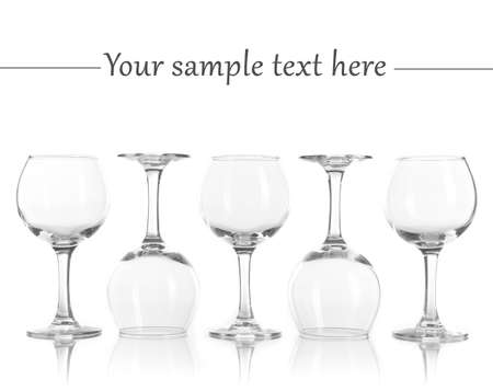 Glasses isolated on white photo