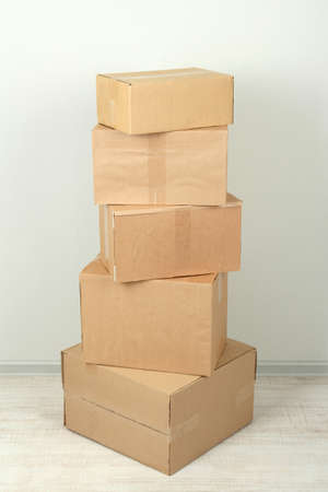 Different cardboard boxes in room Stock Photo - 19907131