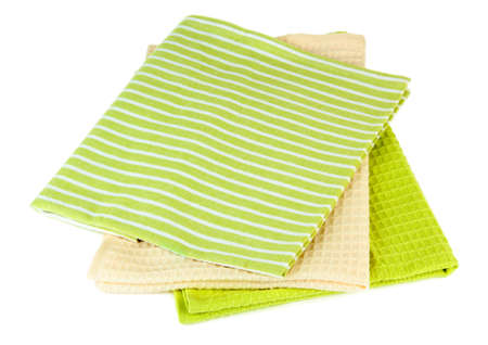 dishcloth: Kitchen towels isolated on white