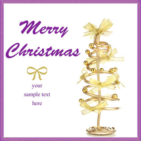 Wire Christmas tree isolated on white Stock Photo - 19957925