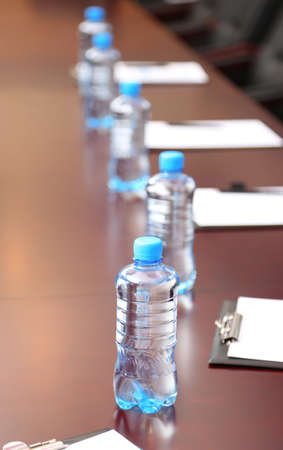 Interior of empty conference room photo