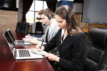 technical: Call center operators at work