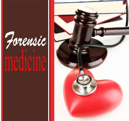 Concept of forensic medicine close up photo