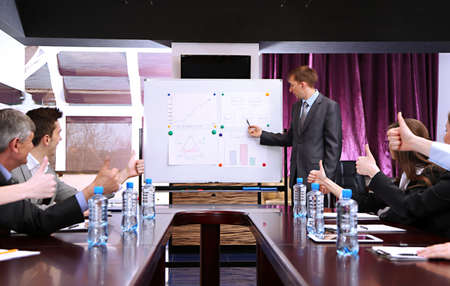 executive courses: Business training at office
