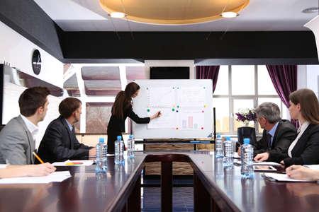 Commerciële opleiding op kantoor Stockfoto - 20419732