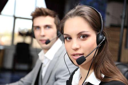 Call center operators at work  photo