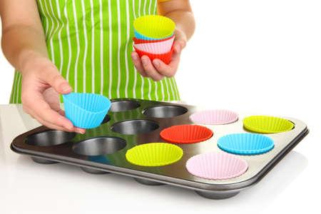 Preparing  muffin cakes close up Stock Photo - 20195925