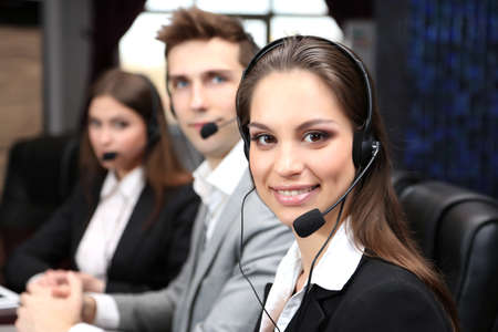 Call center operators at work  photo