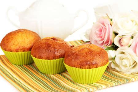 bakeware: Sweet cupcakes close up